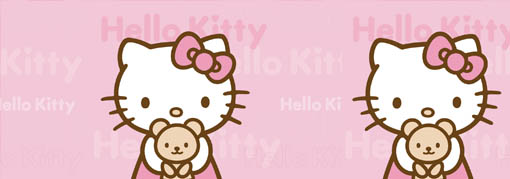 lampara velador cuadrado hello kitty