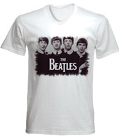 remera estampada con imagen de the beatles