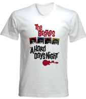 remera estampada con imagen de the beatles a hard days night