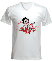 remera estampada con imagen de betty boop