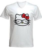 remera estampada con imagen de hello kitty